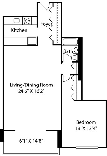 1 Bed, 1 Bath apartment in Boston, West End for $2,975