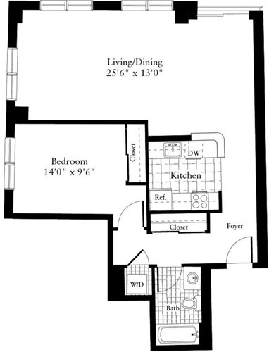 1 Bed, 1 Bath apartment in Waltham for $1,965