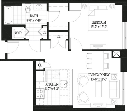1 Bed, 1 Bath apartment in Boston, West End for $3,320