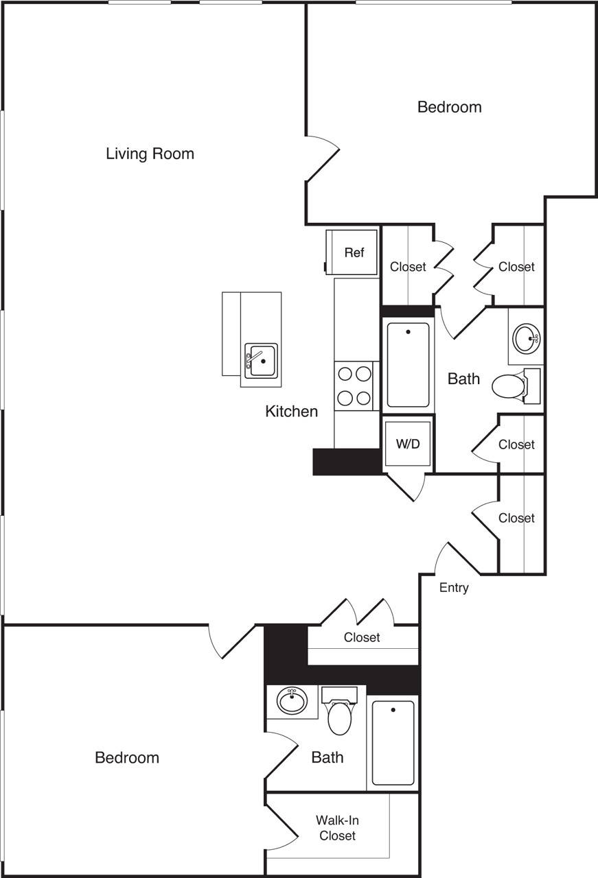 2 Beds, 2 Baths apartment in Boston, Financial District for $3,870