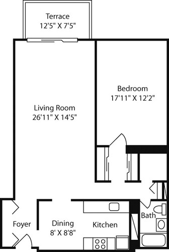 1 Bed, 1 Bath apartment in Boston, West End for $2,715