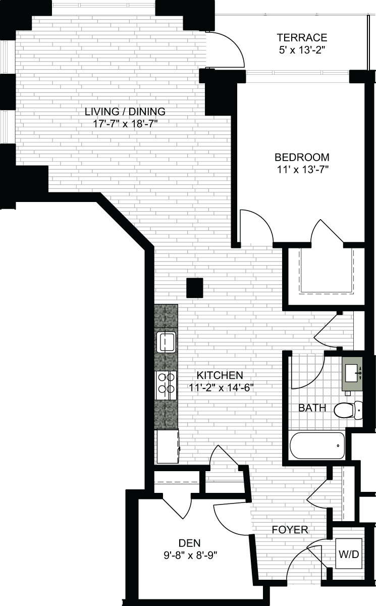 1 Bed, 1 Bath apartment in Boston, North End for $3,195