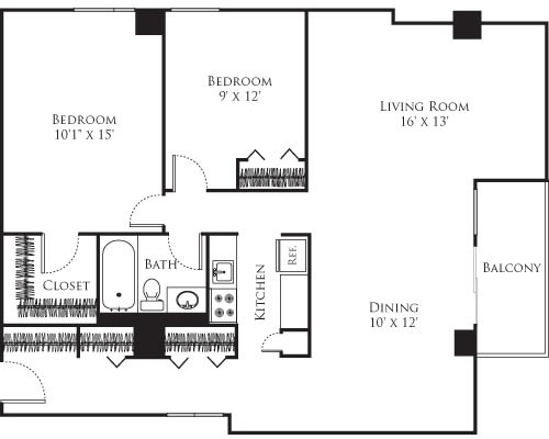 2 Beds, 1 Bath apartment in Cambridge, Mid Cambridge for $2,690