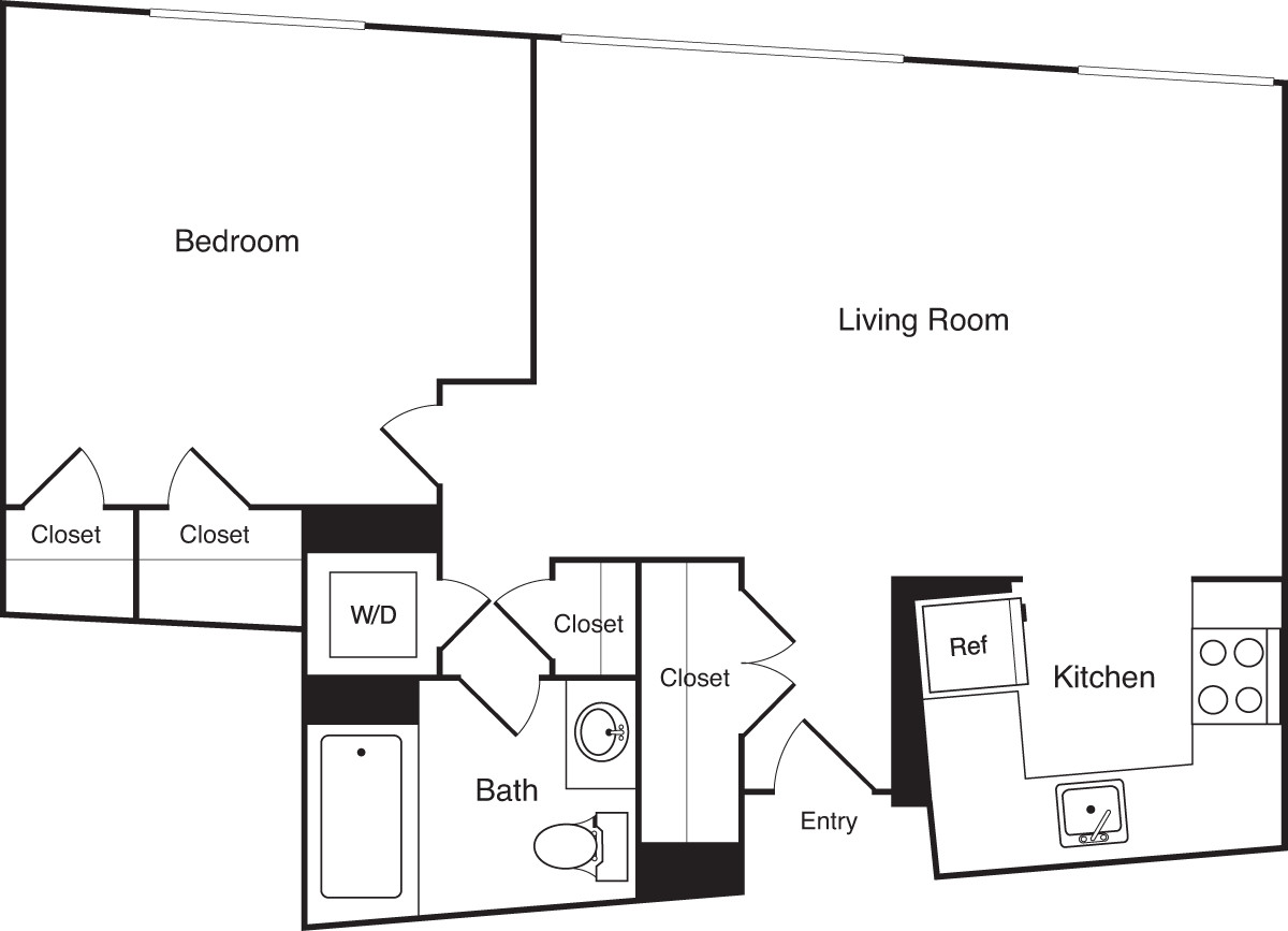 1 Bed, 1 Bath apartment in Boston, Financial District for $2,580