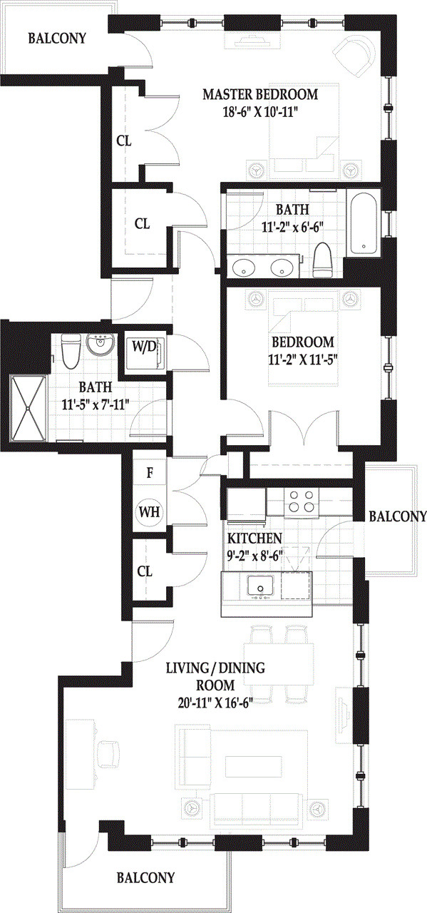 2 Beds, 2 Baths apartment in Boston, West End for $4,545
