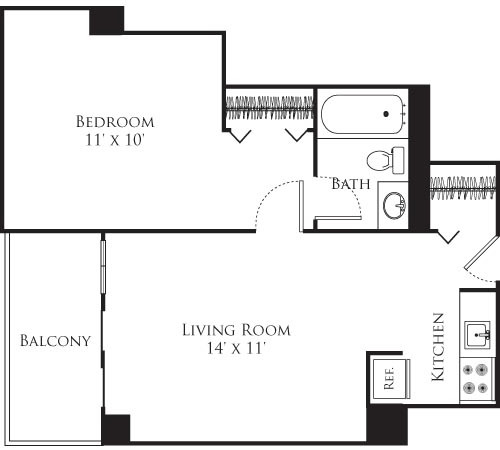 1 Bed, 1 Bath apartment in Cambridge, Mid Cambridge for $2,390