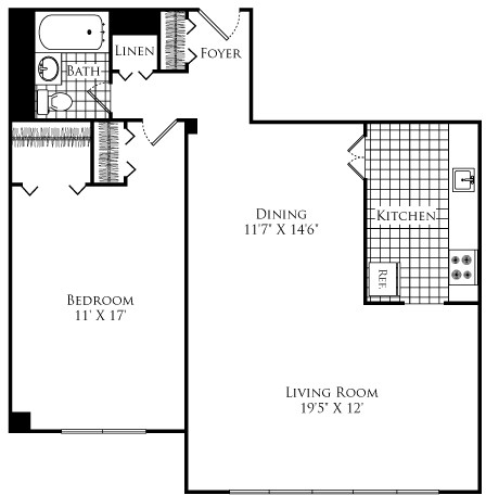1 Bed, 1 Bath apartment in Cambridge for $2,195