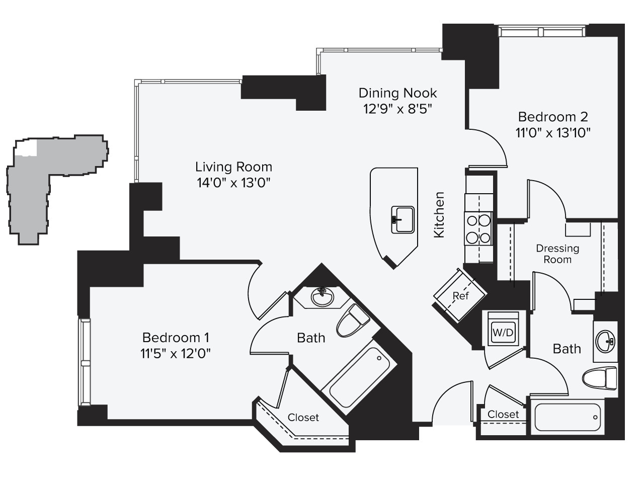 2 Beds, 2 Baths apartment in Cambridge, East Cambridge for $4,277