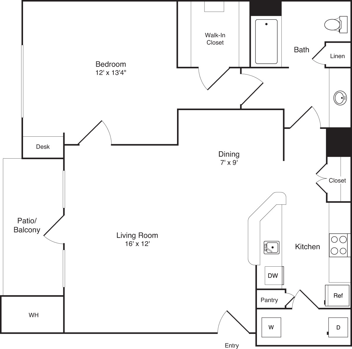 1 Bed, 1 Bath apartment in Braintree for $1,895