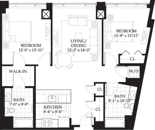 2 Beds, 2 Baths apartment in Boston, West End for $3,545