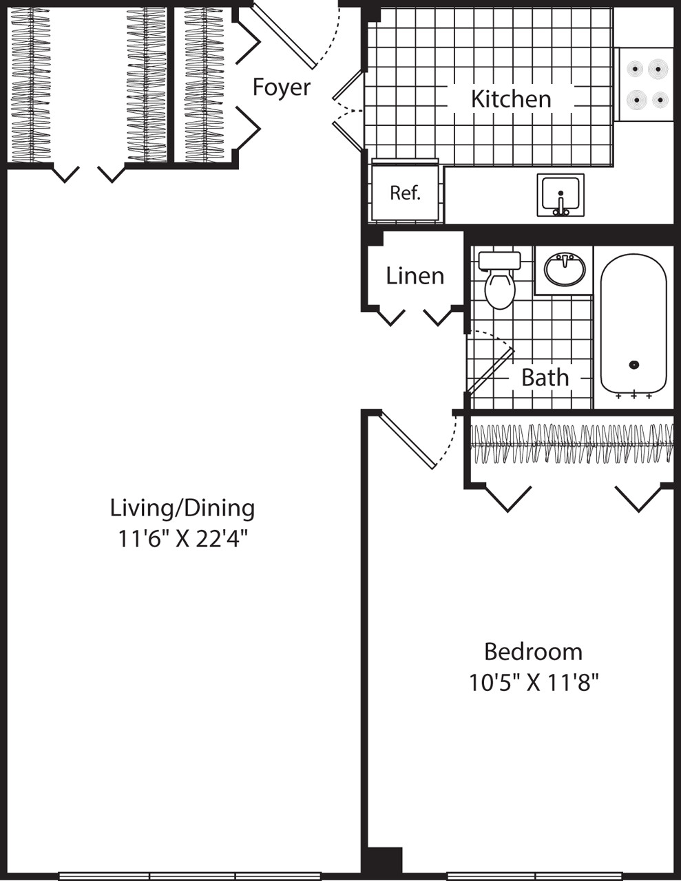 1 Bed, 1 Bath apartment in Cambridge for $2,385