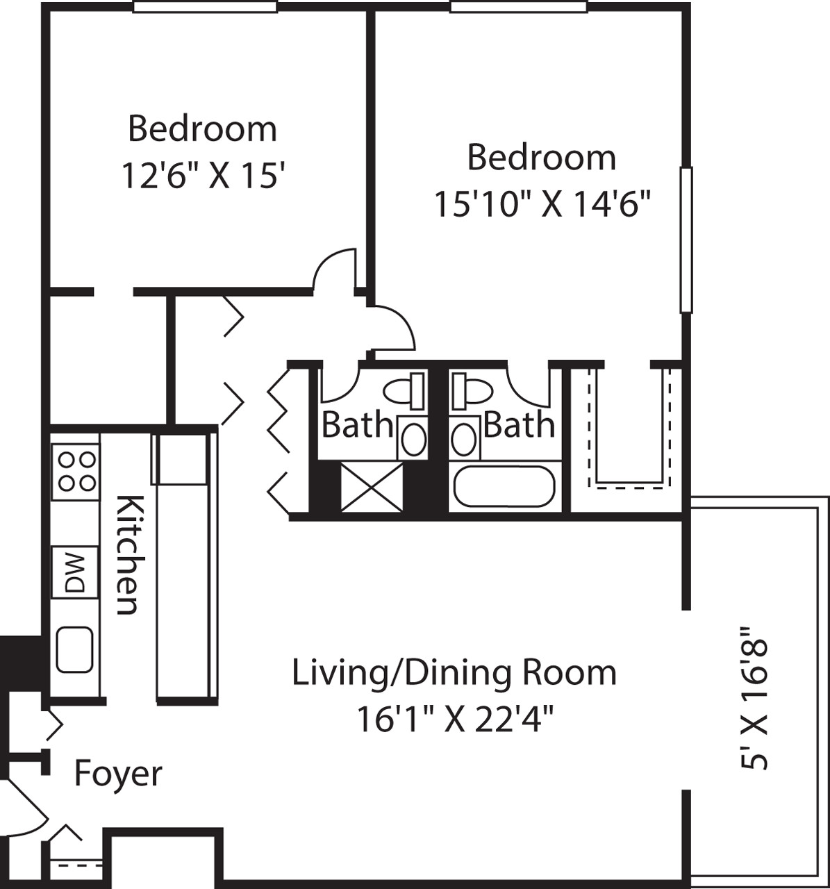 2 Beds, 2 Baths apartment in Boston, West End for $3,935