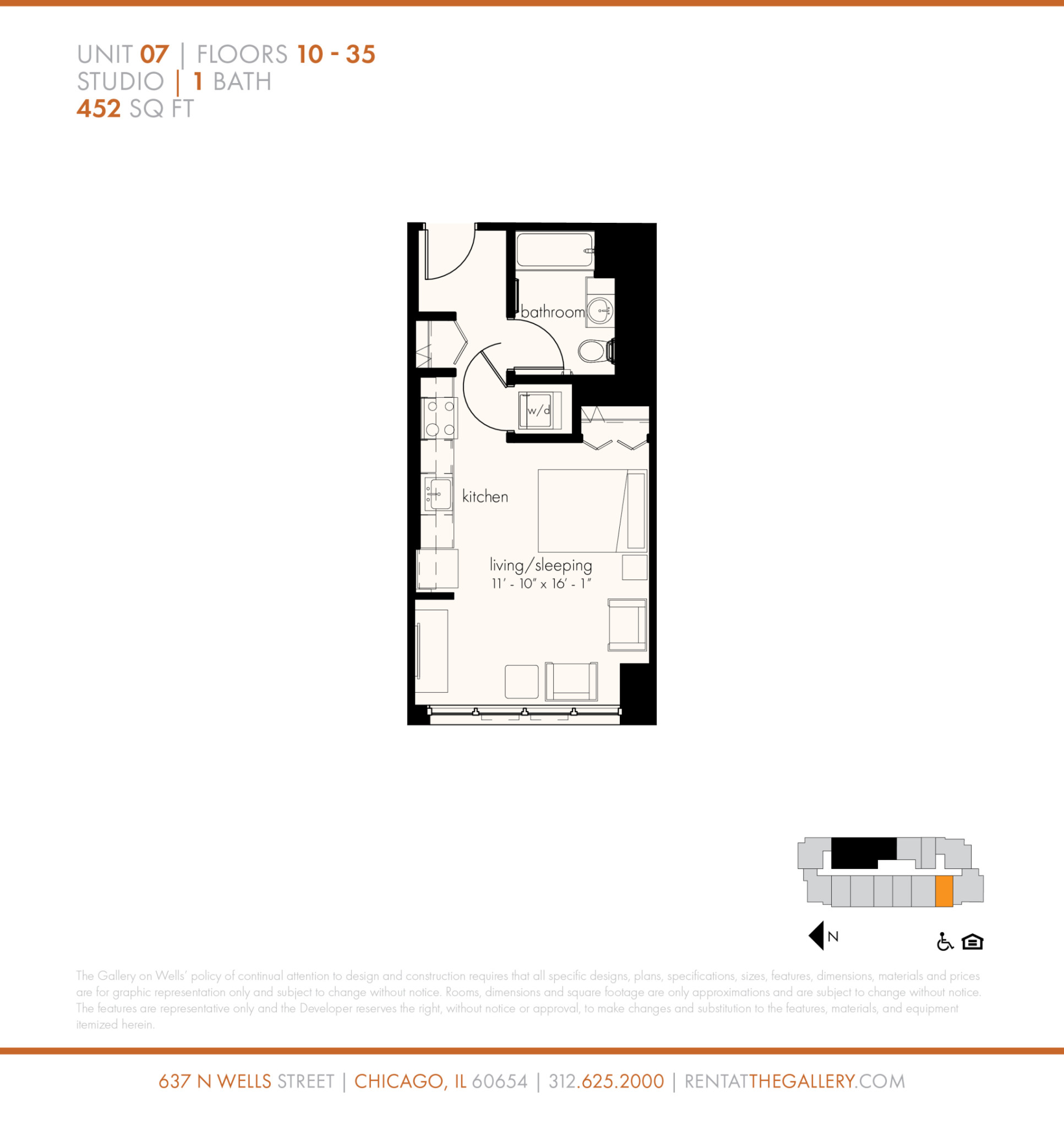 637 North Wells St., Chicago, IL - 1,758 USD/ month