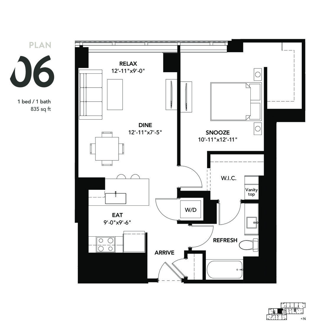 801 South Financial Pl., Chicago, IL - 2,085 USD/ month