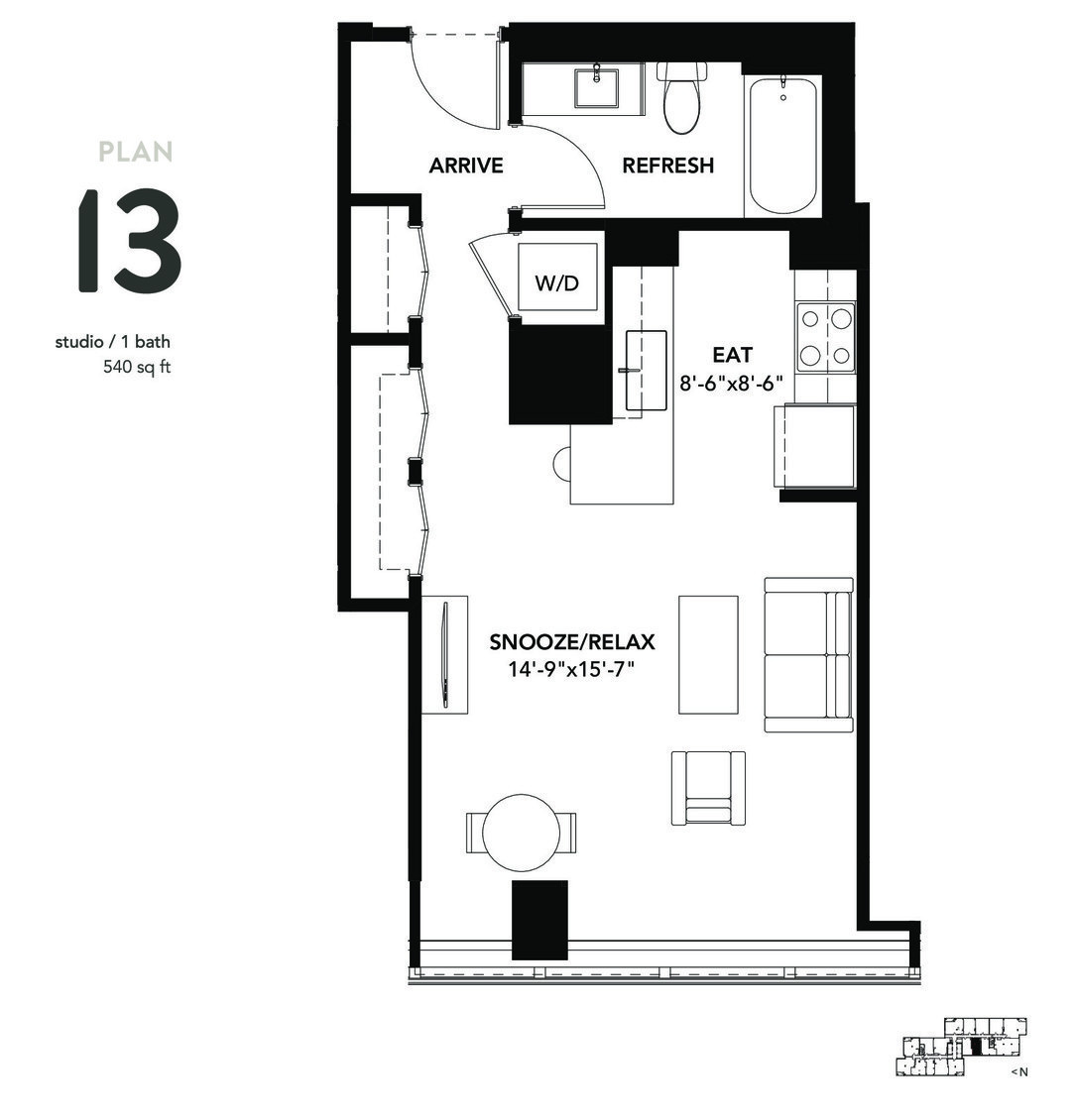 801 South Financial Pl., Chicago, IL - 1,854 USD/ month