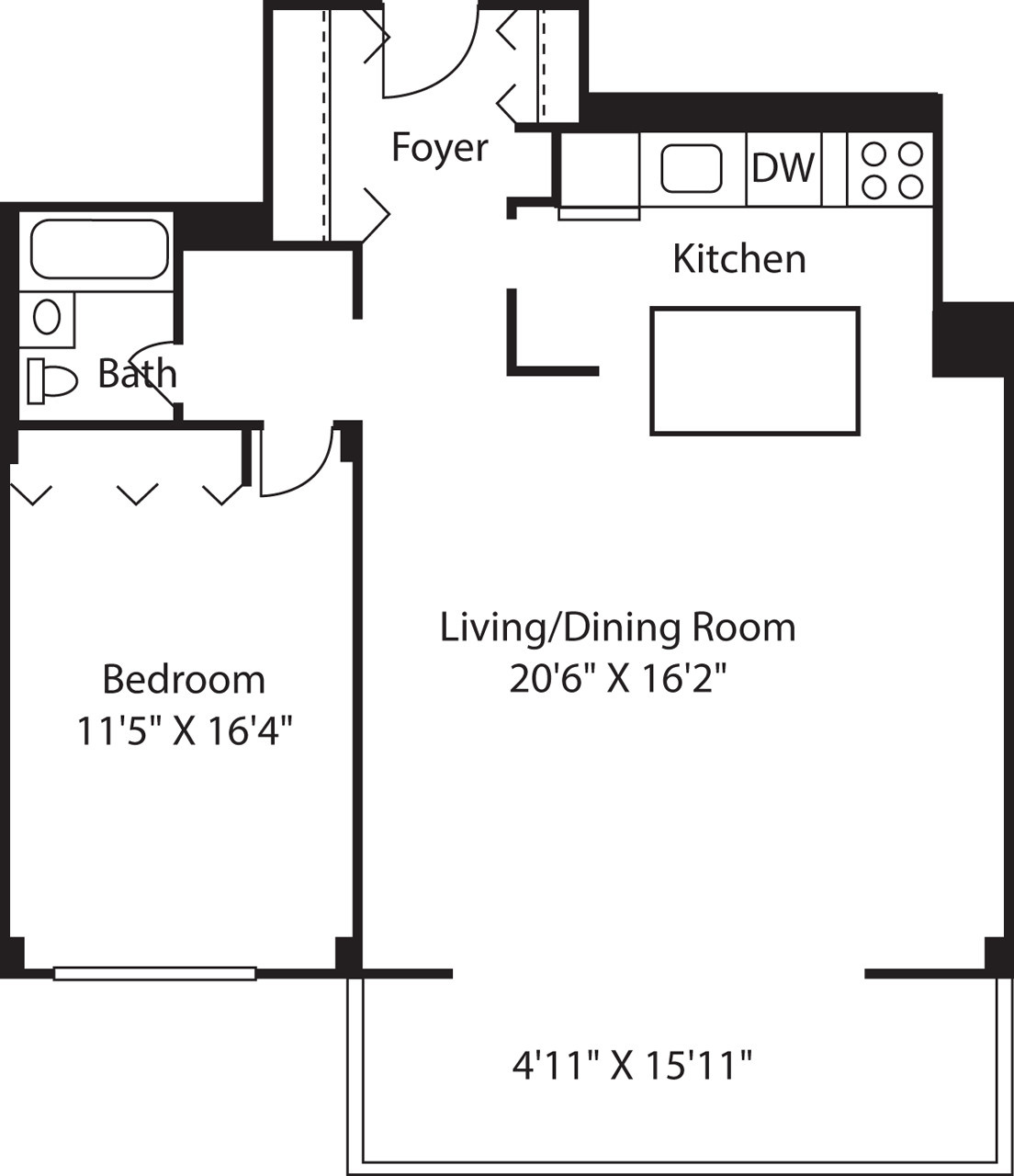 1 Bed, 1 Bath apartment in Boston, West End for $2,215