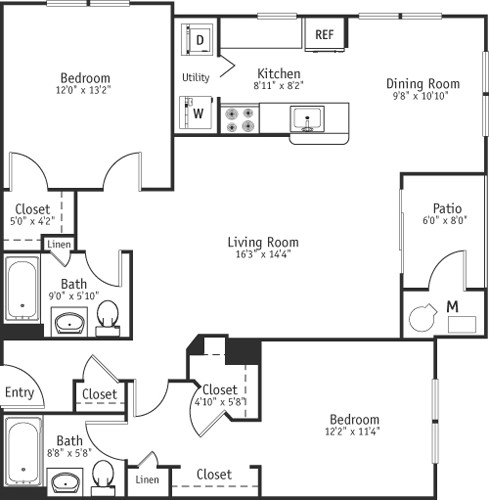 2 Beds, 2 Baths apartment in Burlington for $2,255