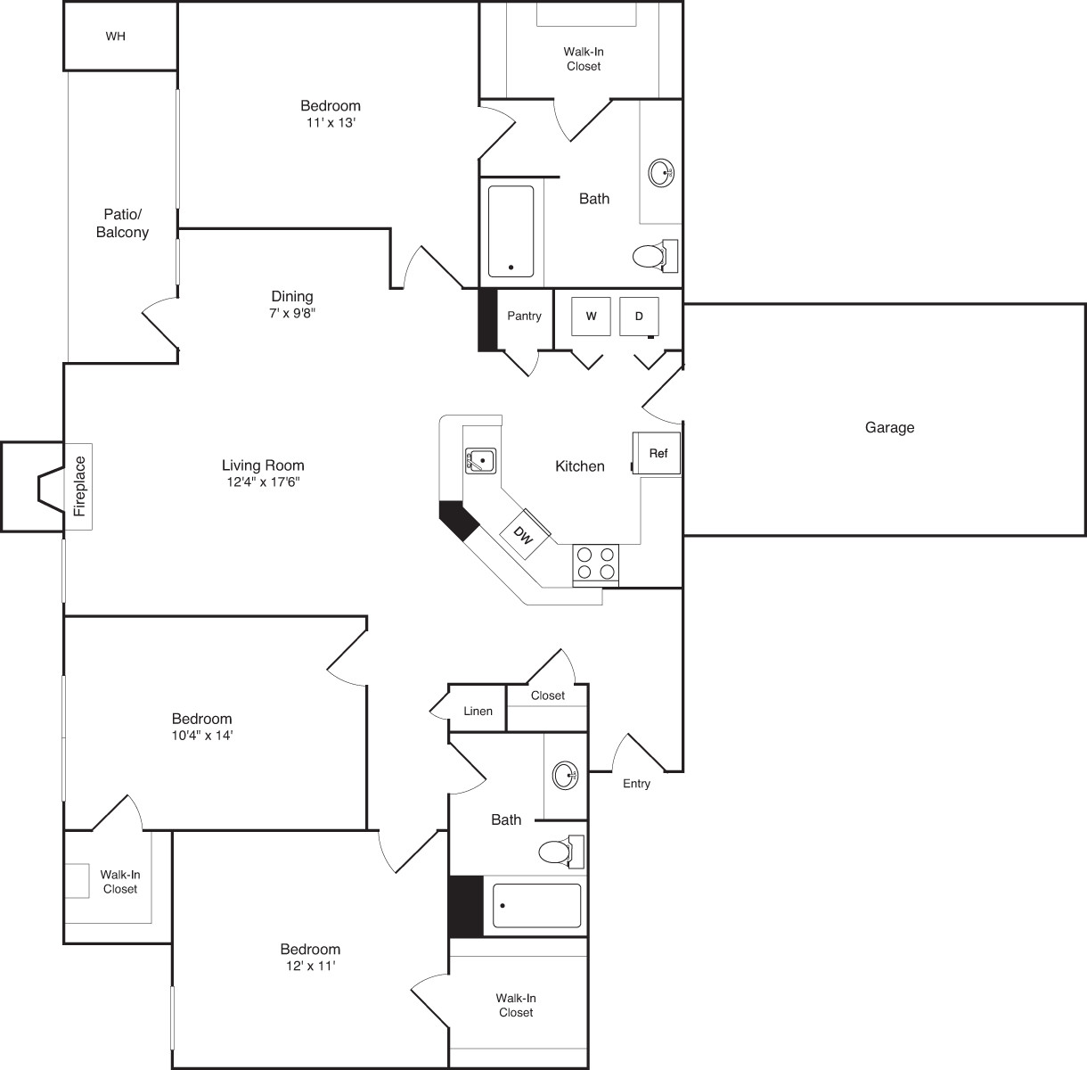 3 Beds, 2 Baths apartment in Braintree for $3,245