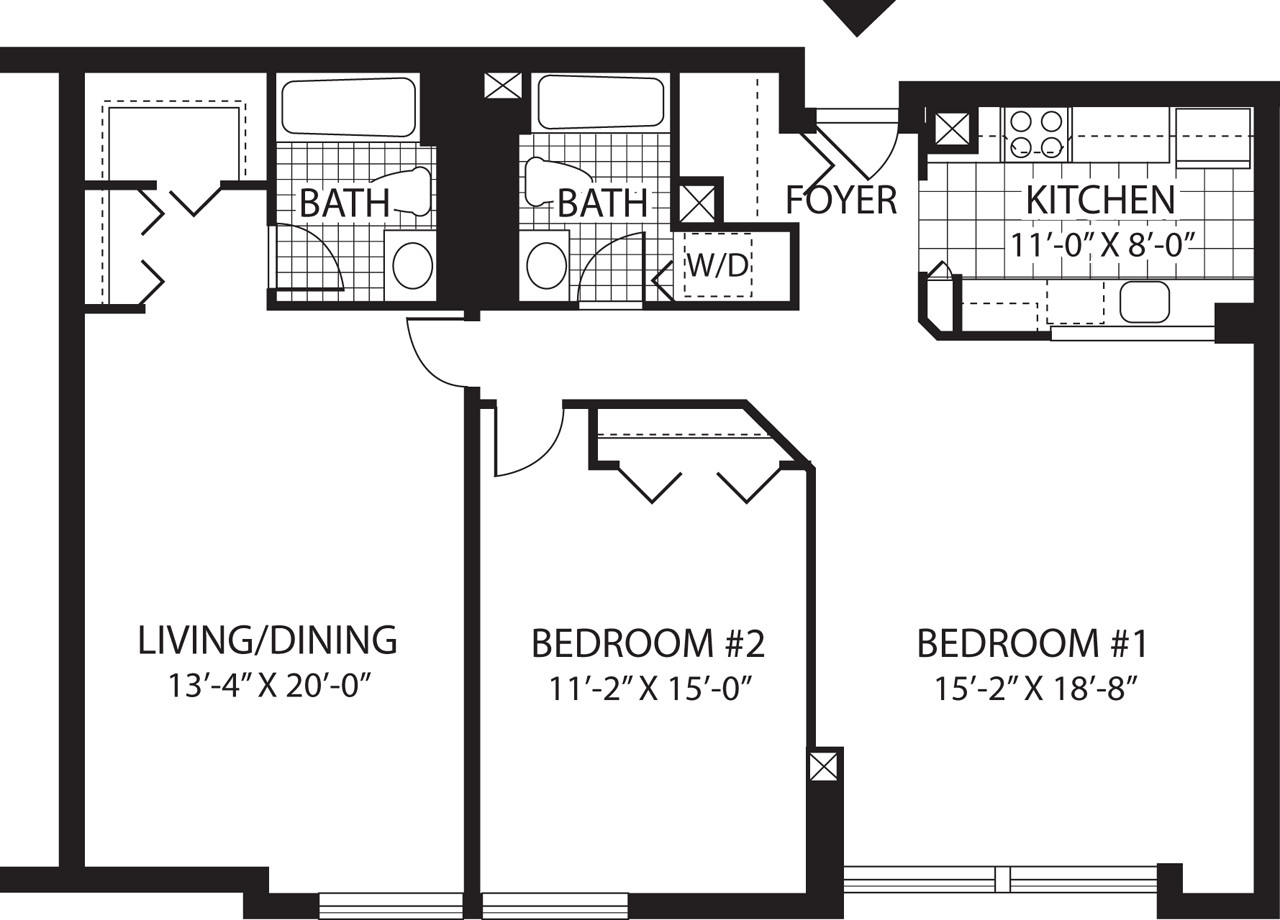 2 Beds, 2 Baths apartment in Malden for $2,230