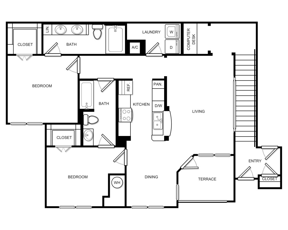 2 Beds, 2 Baths apartment in Braintree for $2,642