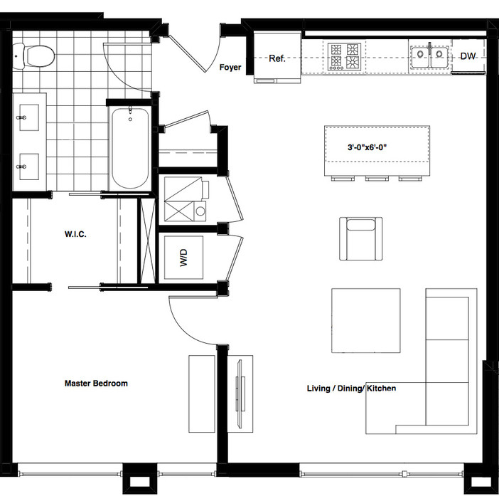 1838 West Chicago Ave., Chicago, IL - 2,365 USD/ month