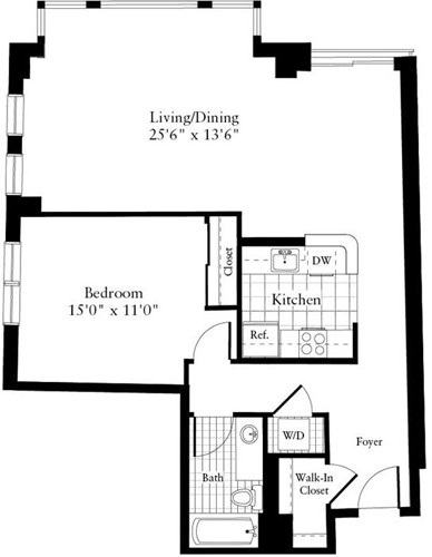 1 Bed, 1 Bath apartment in Waltham for $2,130