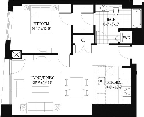 1 Bed, 1 Bath apartment in Boston, West End for $3,755