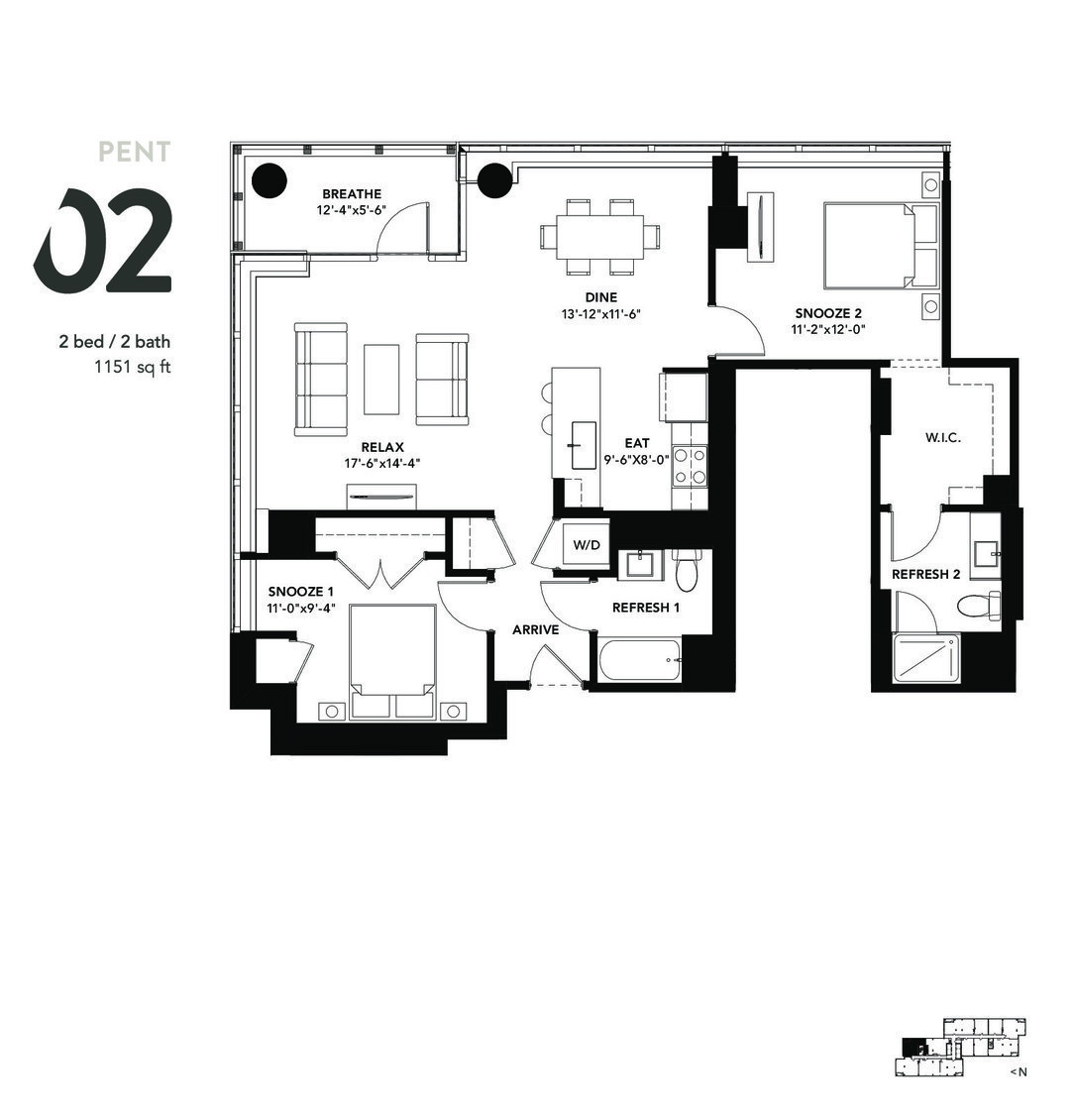 801 South Financial Pl., Chicago, IL - 3,186 USD/ month