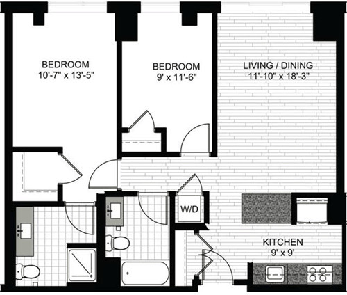 2 Beds, 2 Baths apartment in Boston, North End for $3,035