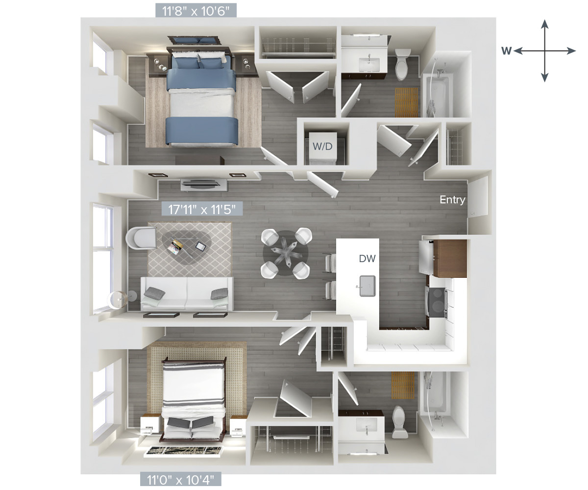 2 Beds, 2 Baths apartment in Boston, West End for $3,495