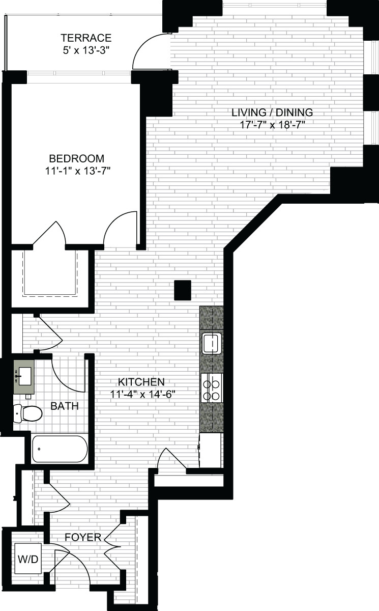 1 Bed, 1 Bath apartment in Boston, North End for $3,630