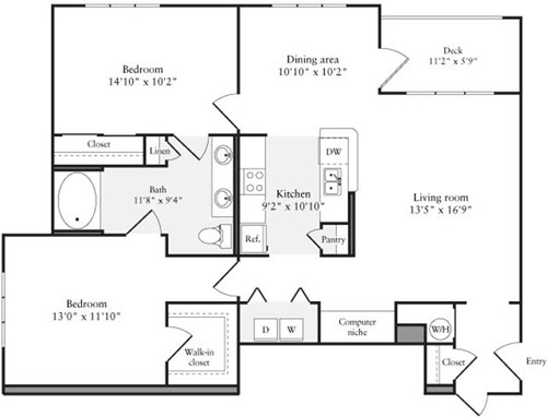 2 Beds, 1 Bath apartment in Quincy for $3,354