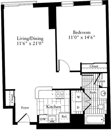 1 Bed, 1 Bath apartment in Waltham for $1,945
