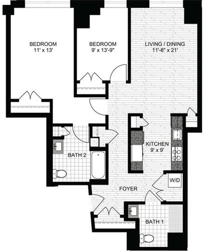 2 Beds, 2 Baths apartment in Boston, North End for $3,630
