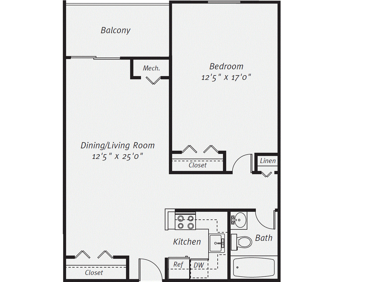 1 Bed, 1 Bath apartment in Quincy for $2,045