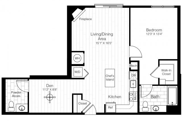 1 Bed, 1 Bath apartment in Watertown for $2,554