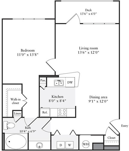 1 Bed, 1 Bath apartment in Quincy for $2,160