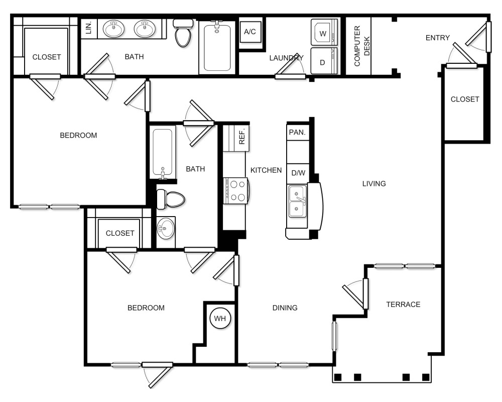 2 Beds, 2 Baths apartment in Braintree for $2,622