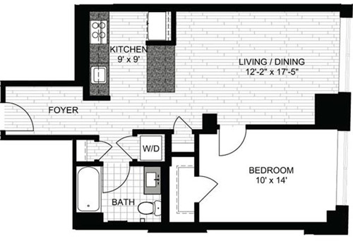 1 Bed, 1 Bath apartment in Boston, North End for $2,480