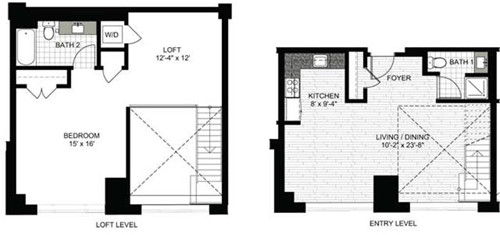 1 Bed, 2 Baths apartment in Boston, North End for $4,005