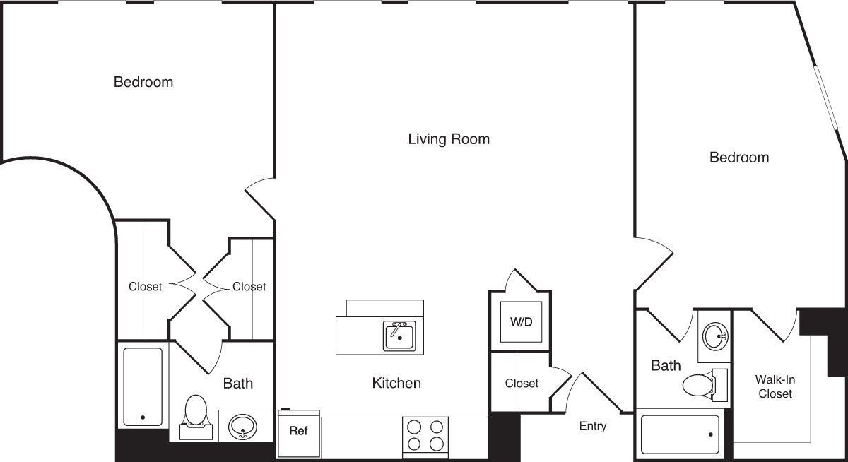 2 Beds, 2 Baths apartment in Boston, Financial District for $3,995