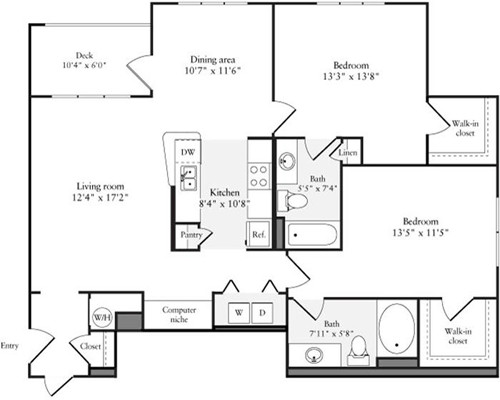 2 Beds, 2 Baths apartment in Quincy for $2,964
