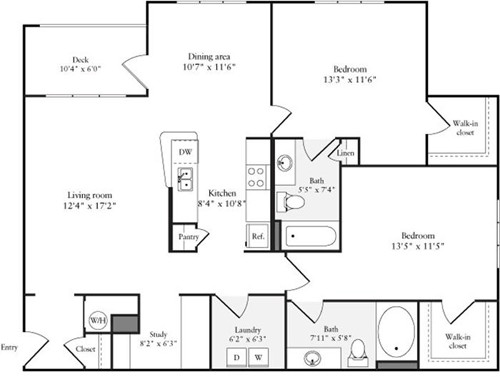 2 Beds, 2 Baths apartment in Quincy for $3,214