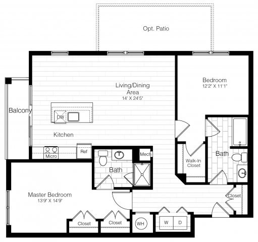 2 Beds, 2 Baths apartment in Watertown for $3,137