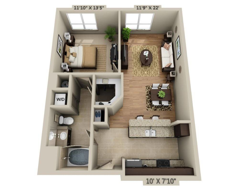 1 Bed, 1 Bath apartment in Needham for $2,415