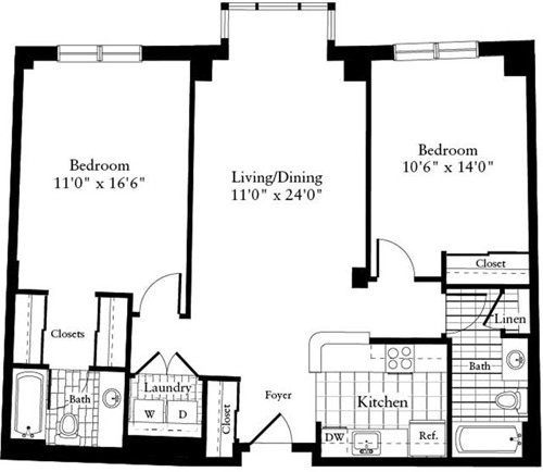 2 Beds, 2 Baths apartment in Waltham for $3,815