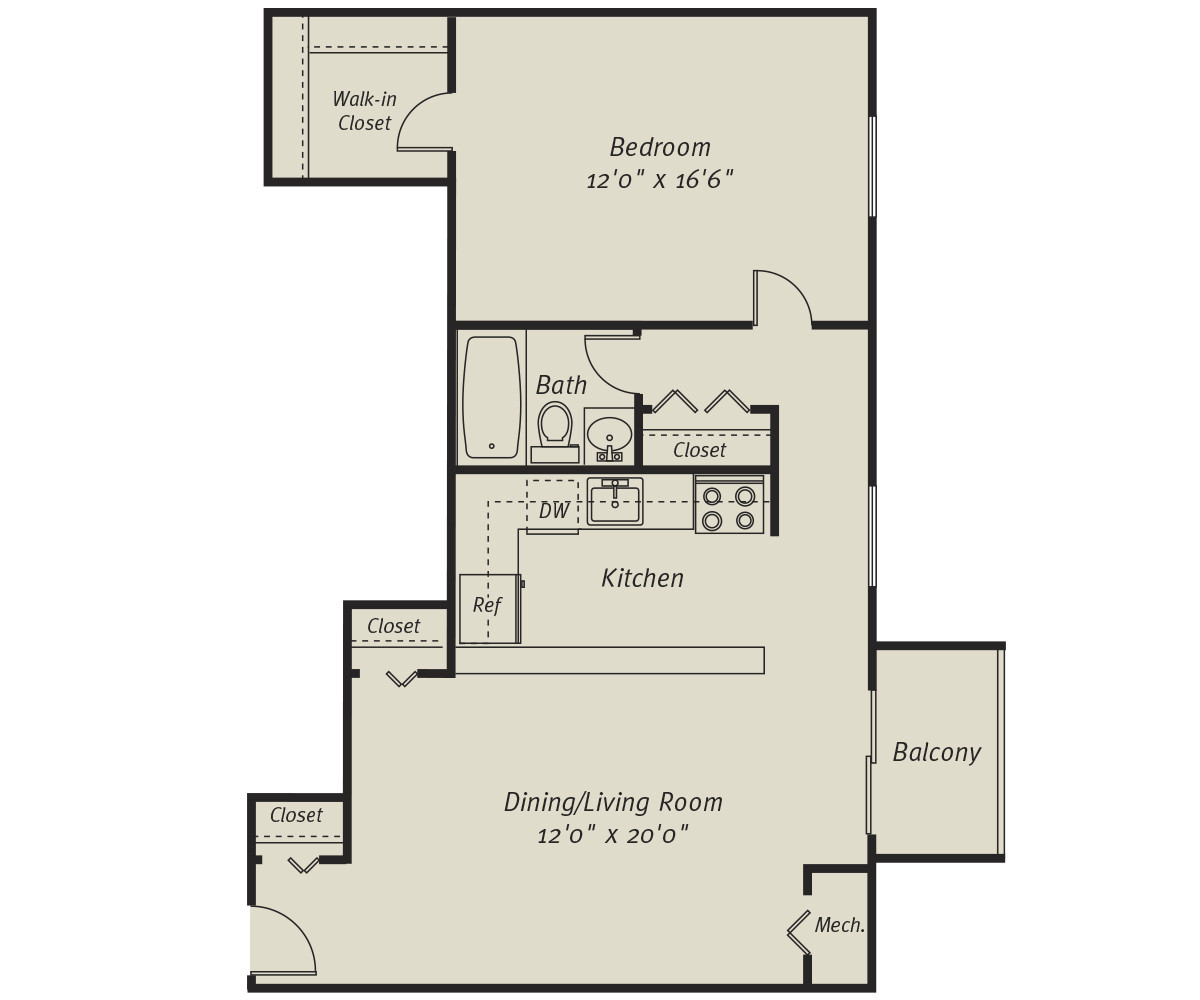 1 Bed, 1 Bath apartment in Quincy for $1,810