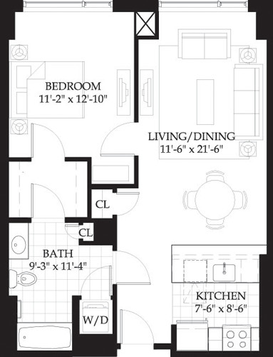 1 Bed, 1 Bath apartment in Boston, West End for $3,245