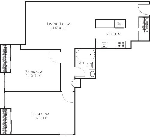 2 Beds, 1 Bath apartment in Cambridge, Mid Cambridge for $3,055