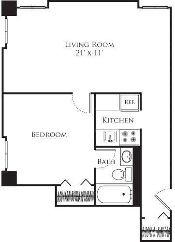 1 Bed, 1 Bath apartment in Cambridge, Mid Cambridge for $2,580